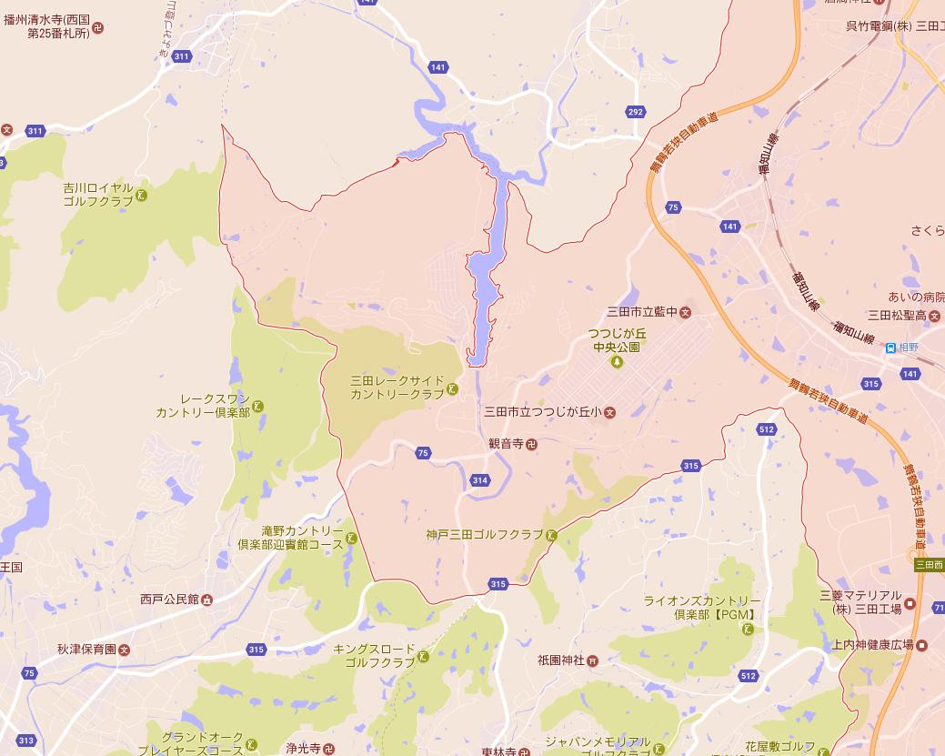大川瀬とその周辺地図