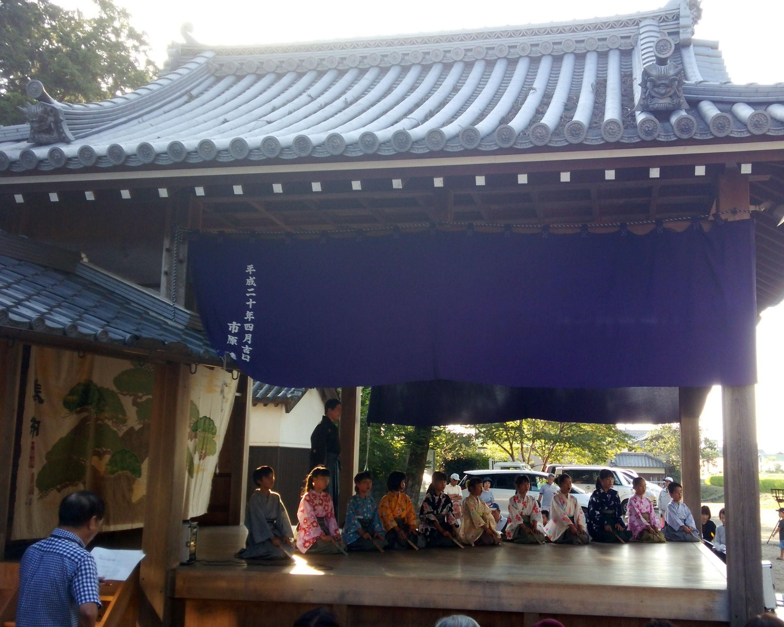 御坂神社「志染能楽仕舞子ども教室」発表会