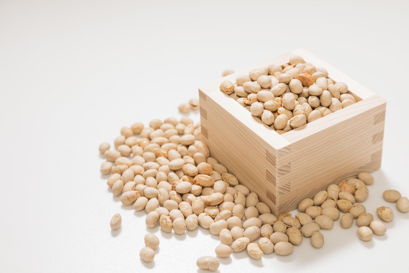 枡と節分豆